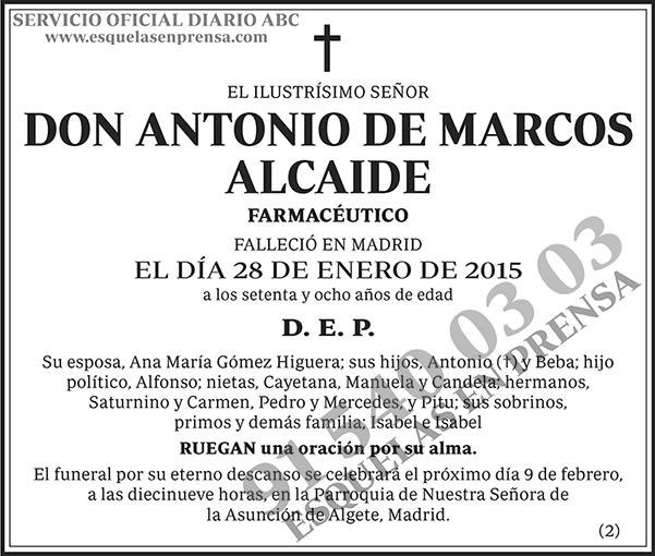 Antonio de Marcos Alcaide